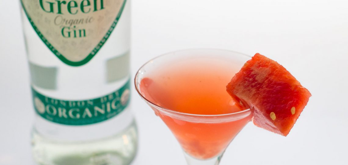 Watermelon and Basil Martini